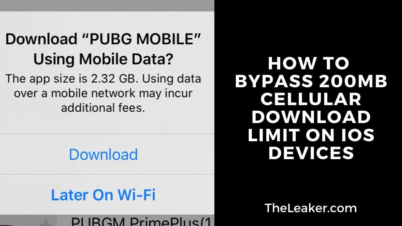 Vô hiệu hóa giới hạn tải xuống di động 200 MB trên iOS - Rò rỉ 2