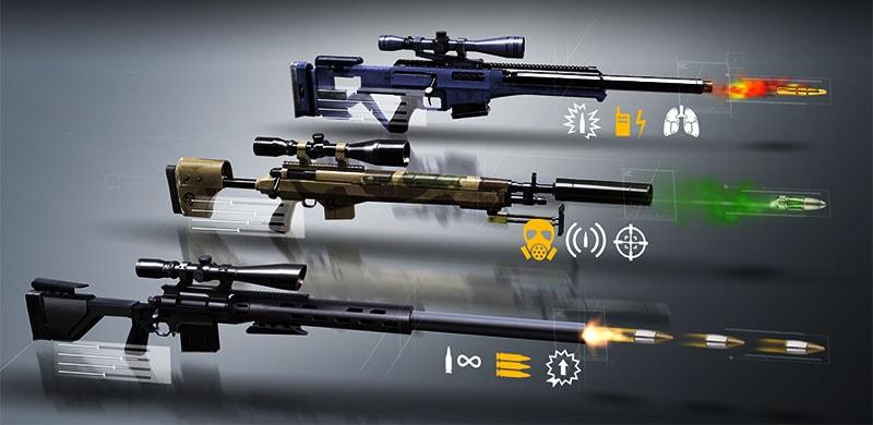 Hitman Sniper mở khóa tất cả vũ khí Android