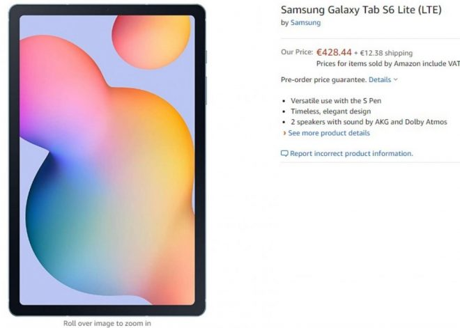 Samsung Galaxy S6 Lite Tab về cơ bản Amazon Nước Đức; Đặt hàng trước và tăng giá 1