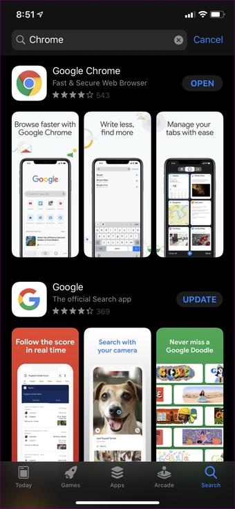 Sửa ứng dụng Chrome Desktop của iPhone 03