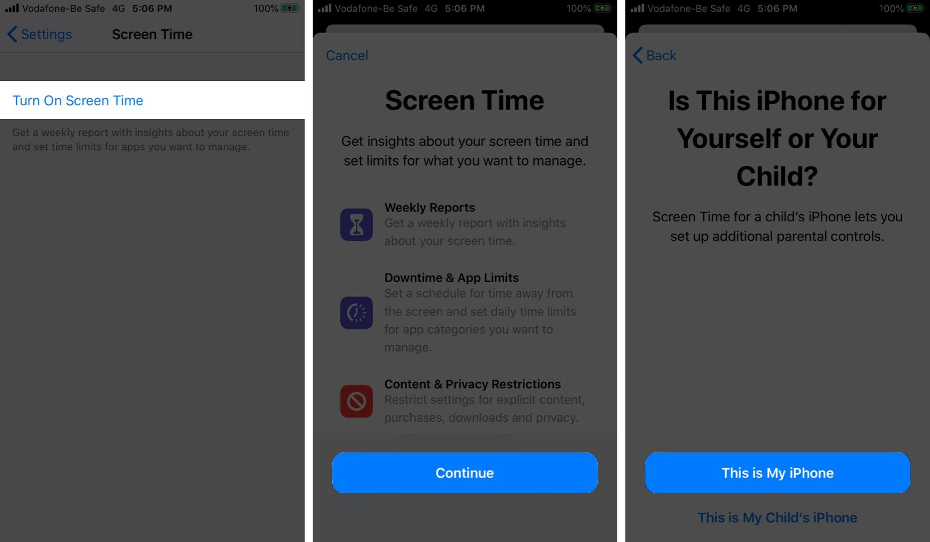 İOS 13-də iPhone-da Ekran Saatını Yandırın