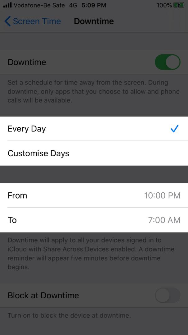 IPhone-da Ekran Saatı Stop Vaxtını təyin etmək
