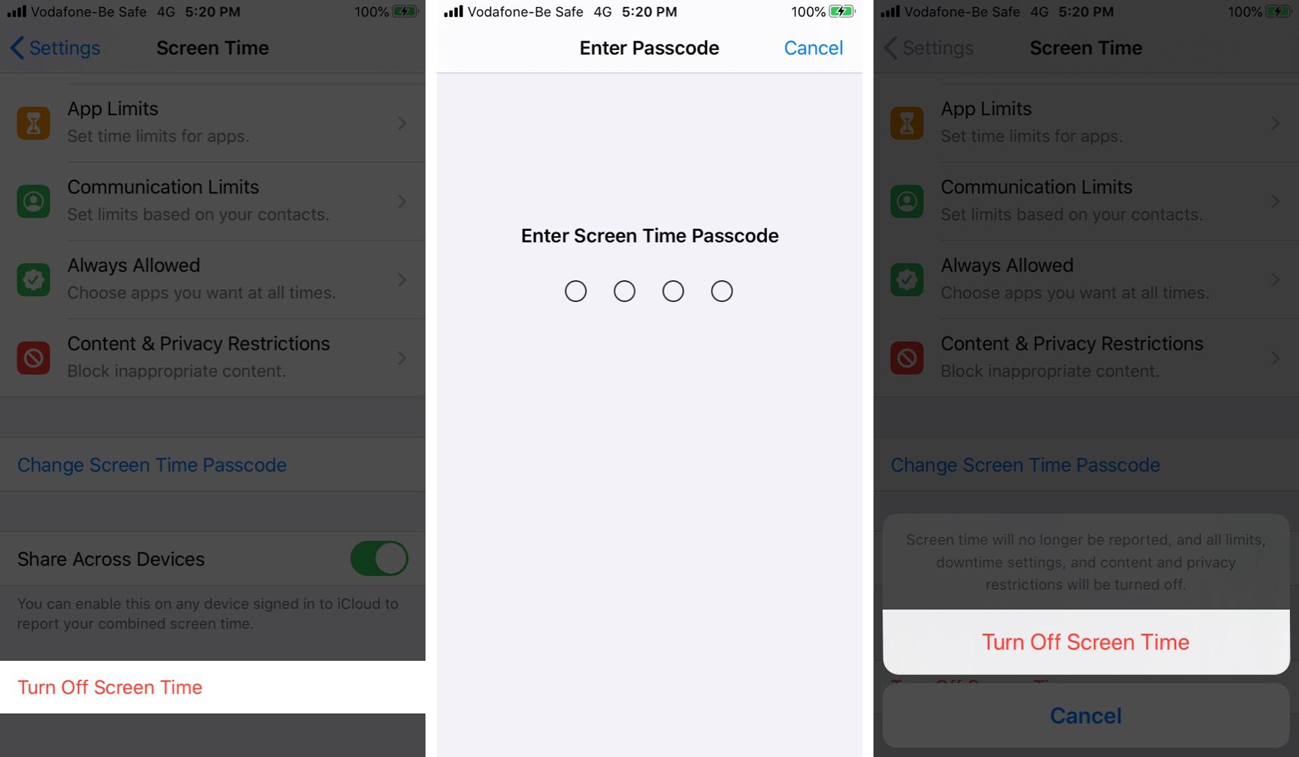 Tắt thời gian trên màn hình trên iPhone