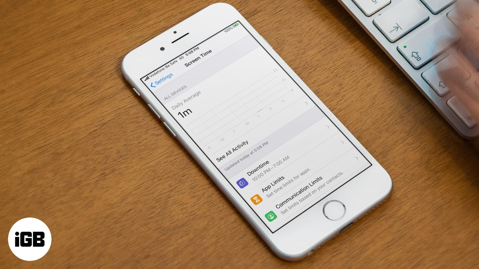 Cách sử dụng Thời gian màn hình trên iOS 13 và iPadOS 1