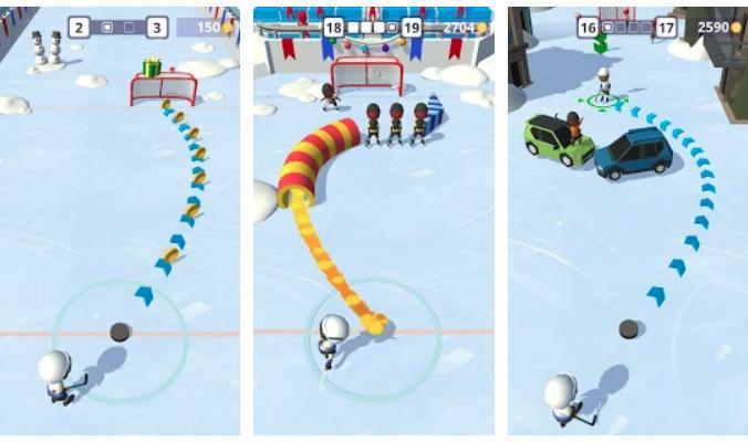 Oyun mağazasında Xoşbəxt Hockey oyun tətbiqi
