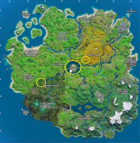 Fortnite: Mùa 2 - Cơ quan, Hayman và lăng mộ dầu 2. tham quan trong trò chơi