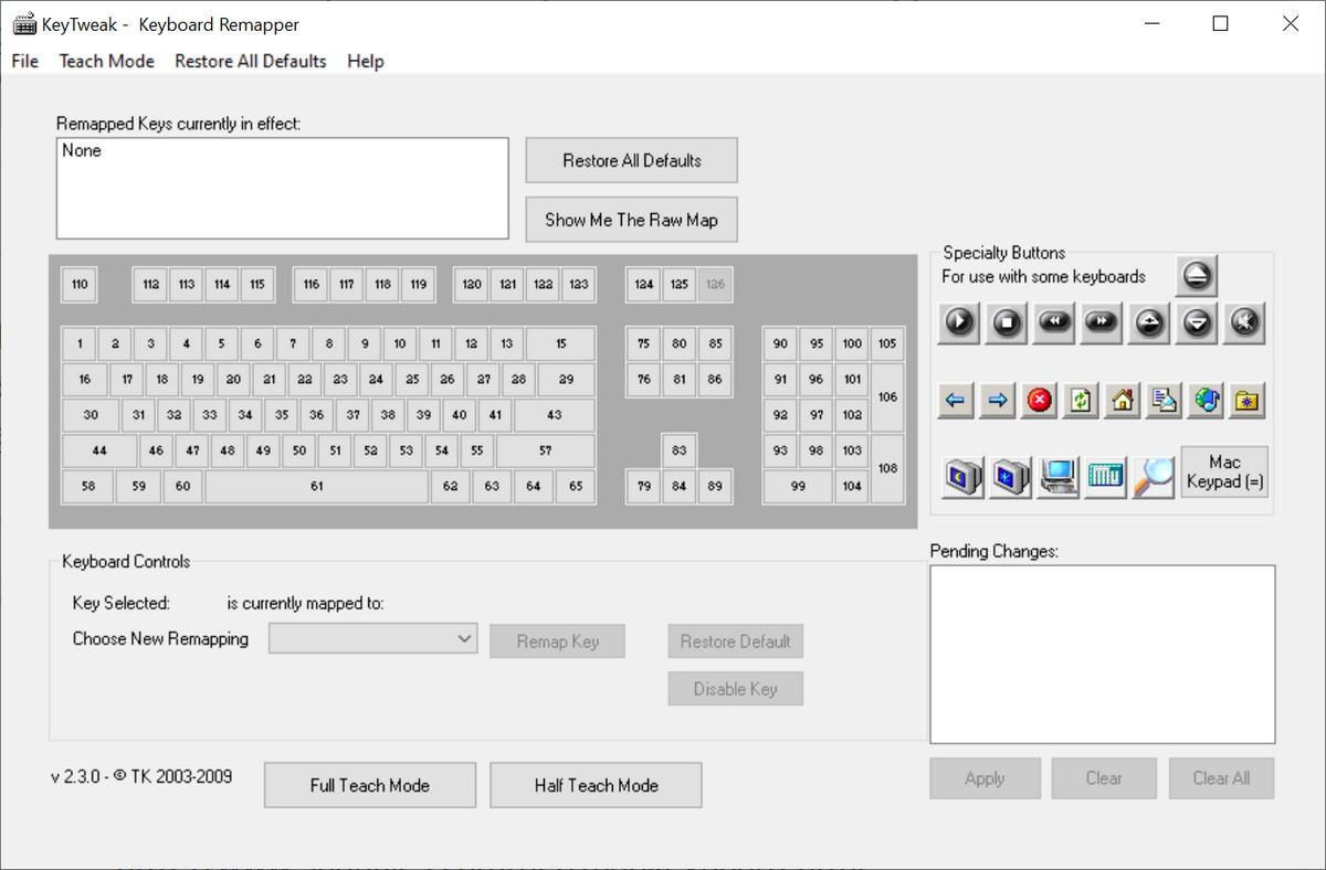 Đặt lại hoặc đặt lại phím trên bàn phím của bạn 1