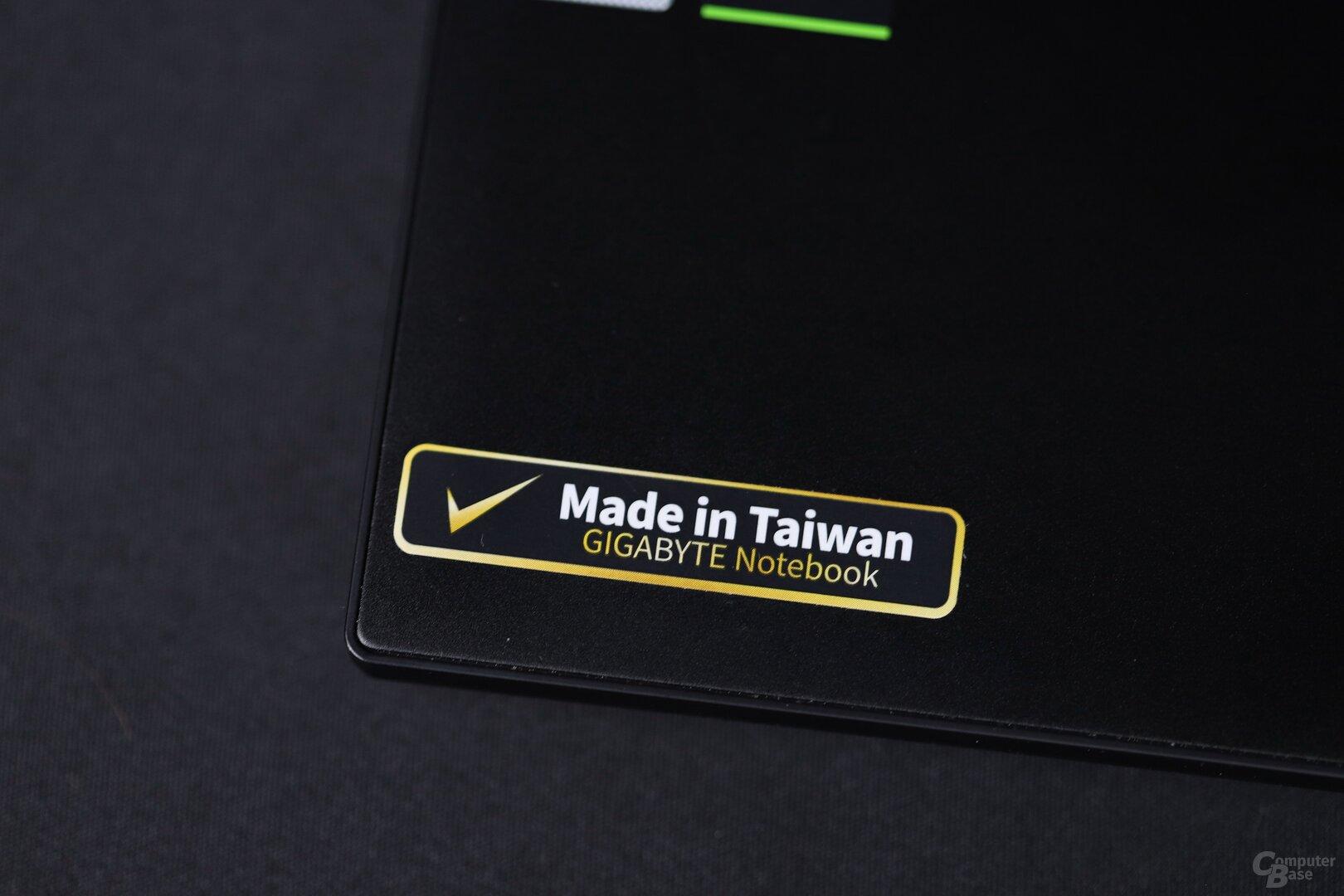"Gigabyte, Çin deyil, Aero-da ""Tayvanda hazırlanmışdır"""