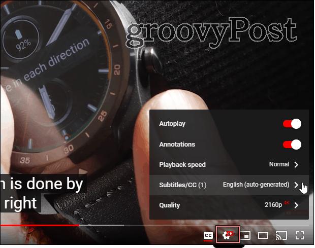YouTube  điều chỉnh cài đặt phông chữ phụ đề
