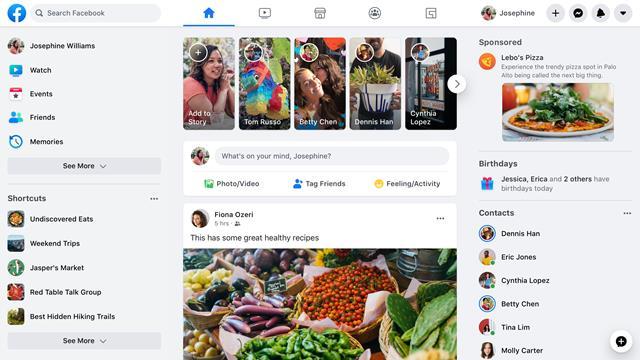 Facebook: khai mạc 2phiên bản máy tính để bàn mới trong