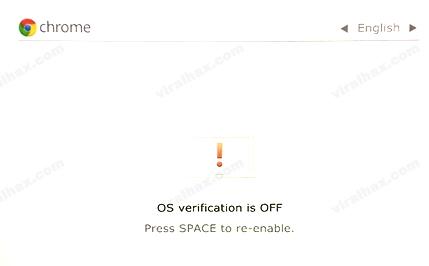 Chromebook OS Doğrulanması Offdur