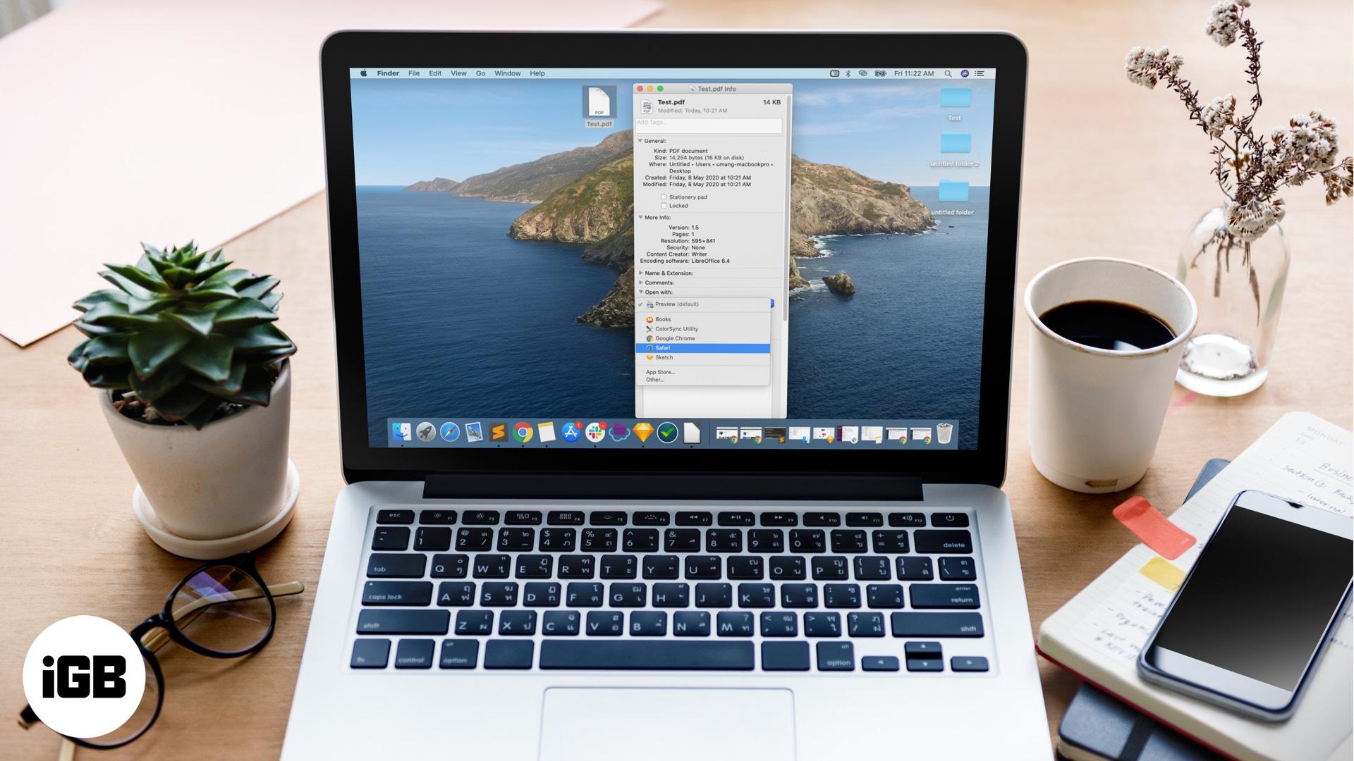 Cách thay đổi Chế độ xem PDF mặc định trên máy Mac trong macOS CatOS 1