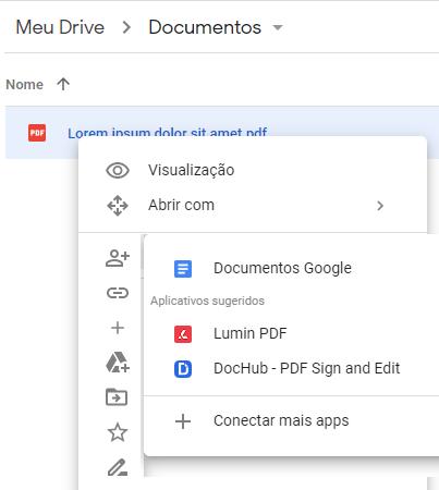Google Dokümanlar ile aç