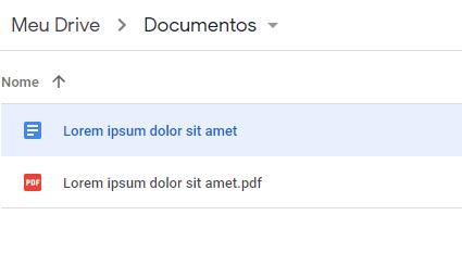 Google Dokümanlar'da oluşturulan dosya