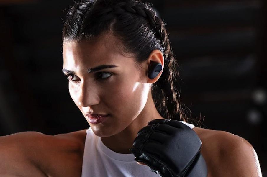 Tai nghe thể thao Sony WF-SP800N 1'TÔI 1 cung cấp âm thanh không dây