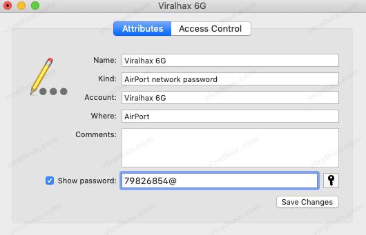 Lock Zəncir girişi WiFi Şifrələrini göstərir