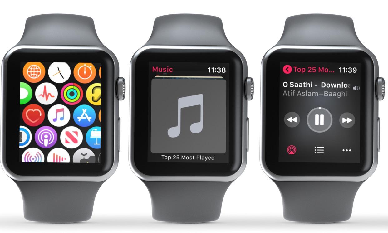 Musiqi tətbiqini açın və Musiqi çalmaq üçün Alboma vurun Apple Watch
