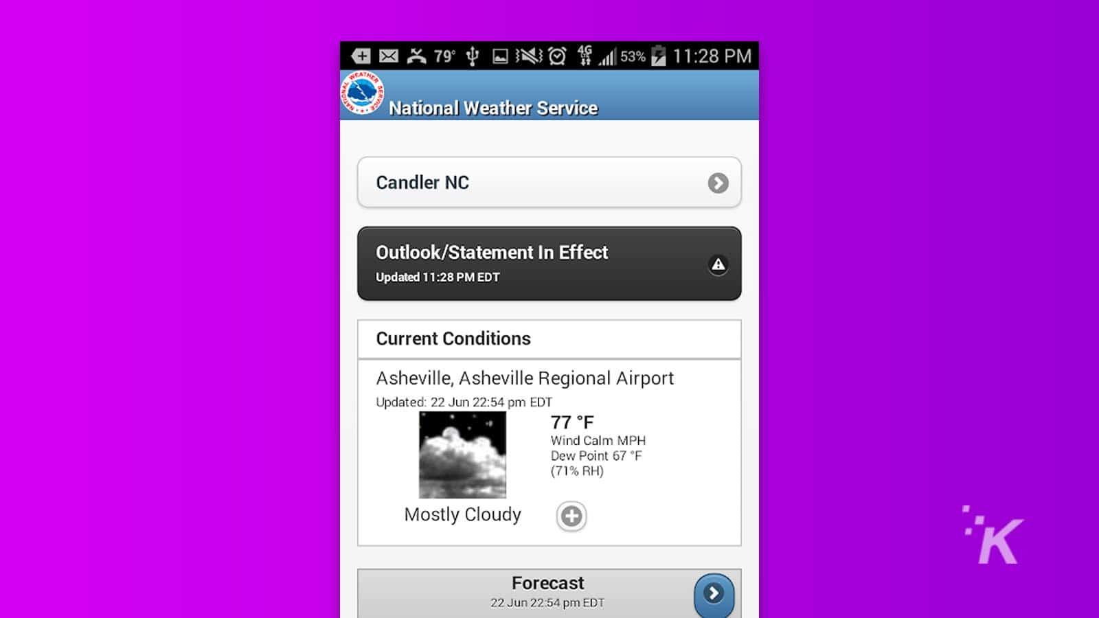 dịch vụ thời tiết quốc gia