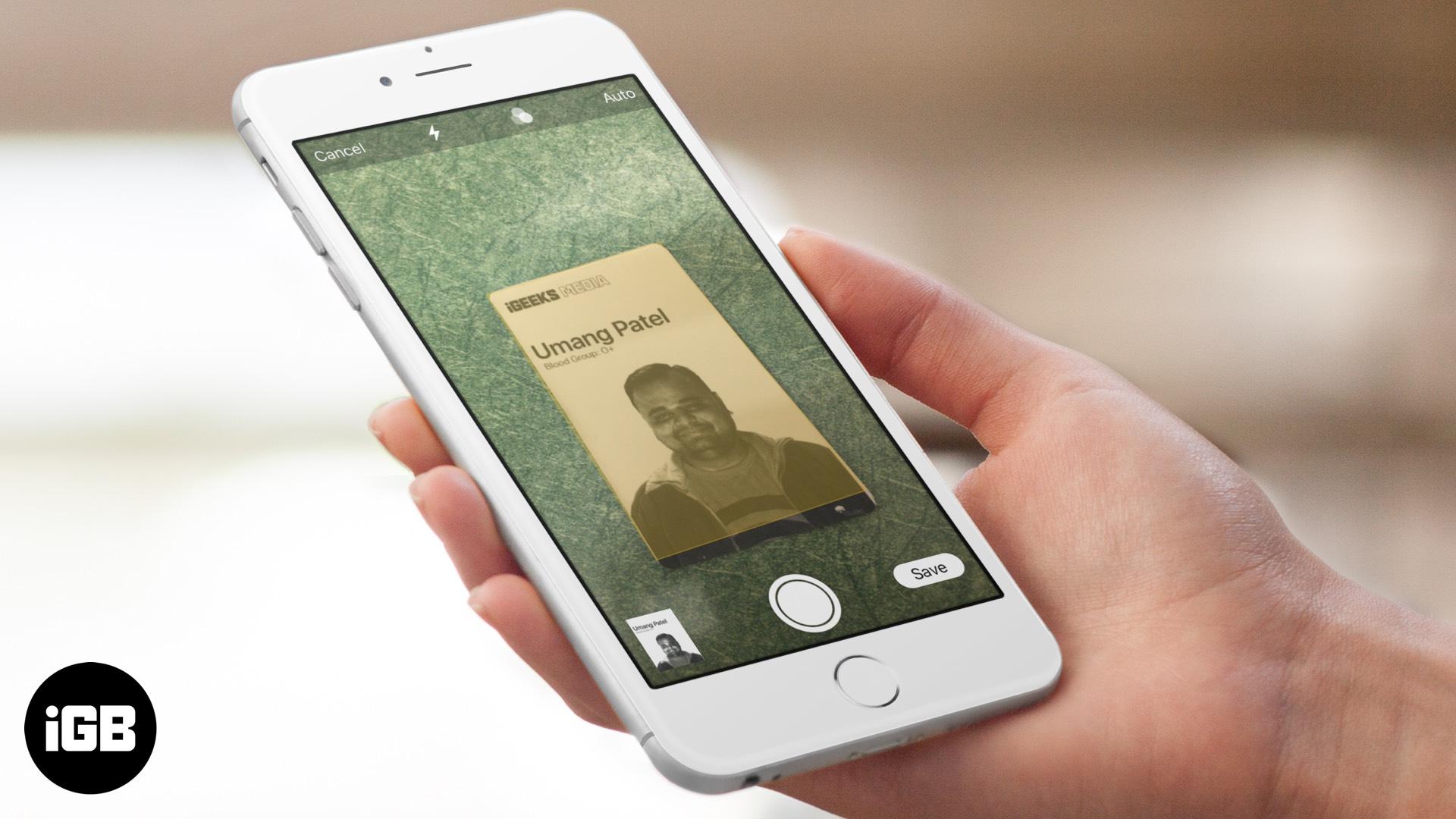 Cara Mengimbas Dokumen dengan Aplikasi Catatan di iPhone dan iPad di iOS 13