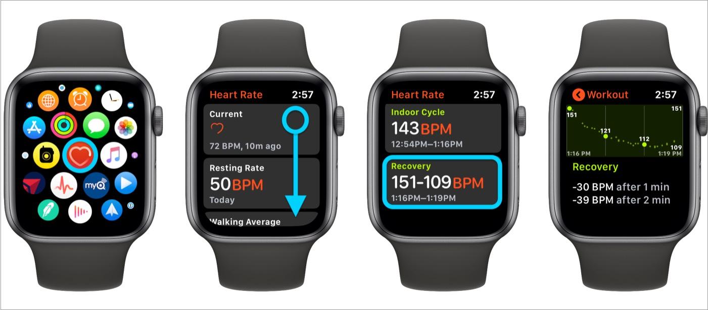 Ürək döyüntüsünün bərpa olunduğuna baxın Apple Watch