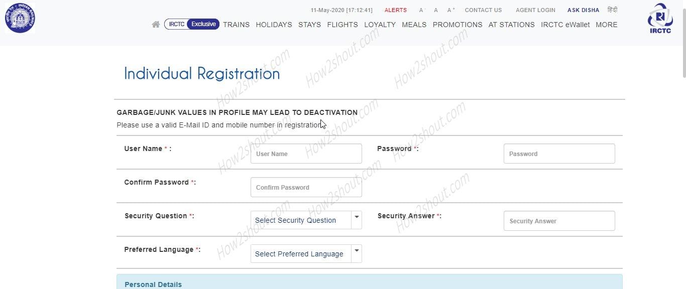 Индивидуальная регистрация IRCTC-min