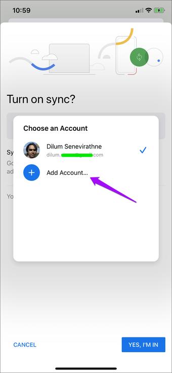 Switch        Tài khoản Google Chrome 6