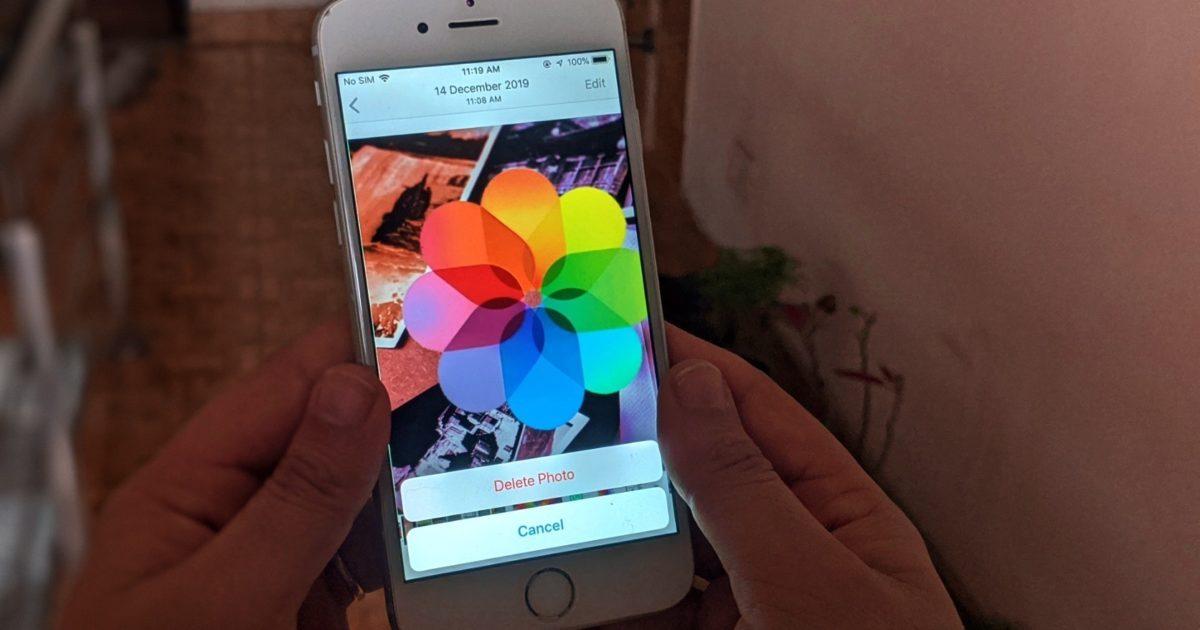 Kuinka pysäyttää poistetun kuvan takana oleva iPhone