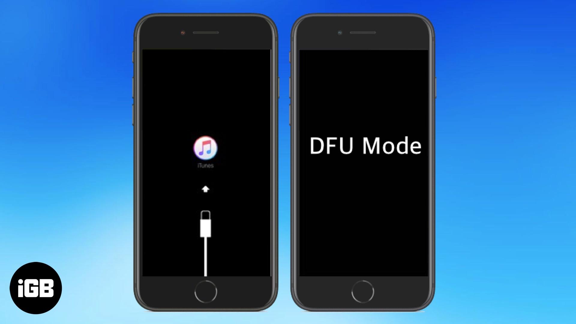 Thêm iPhone hoặc iPad vào Chế độ DFU 3