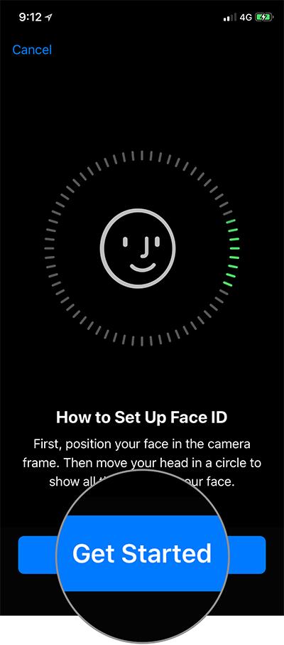 İPhone X-də Üz ID Quraşdırma ilə İşə Başla vurun