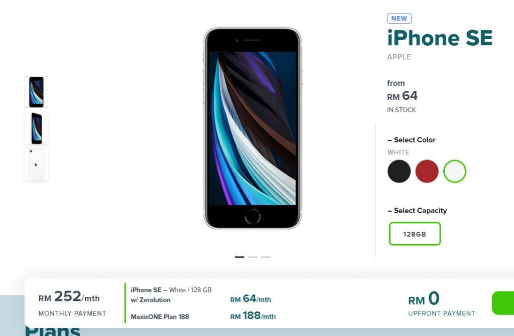 Maxis Zerolution cung cấp iPhone SE 2020 với giá thấp nhất là 64 RM mỗi tháng