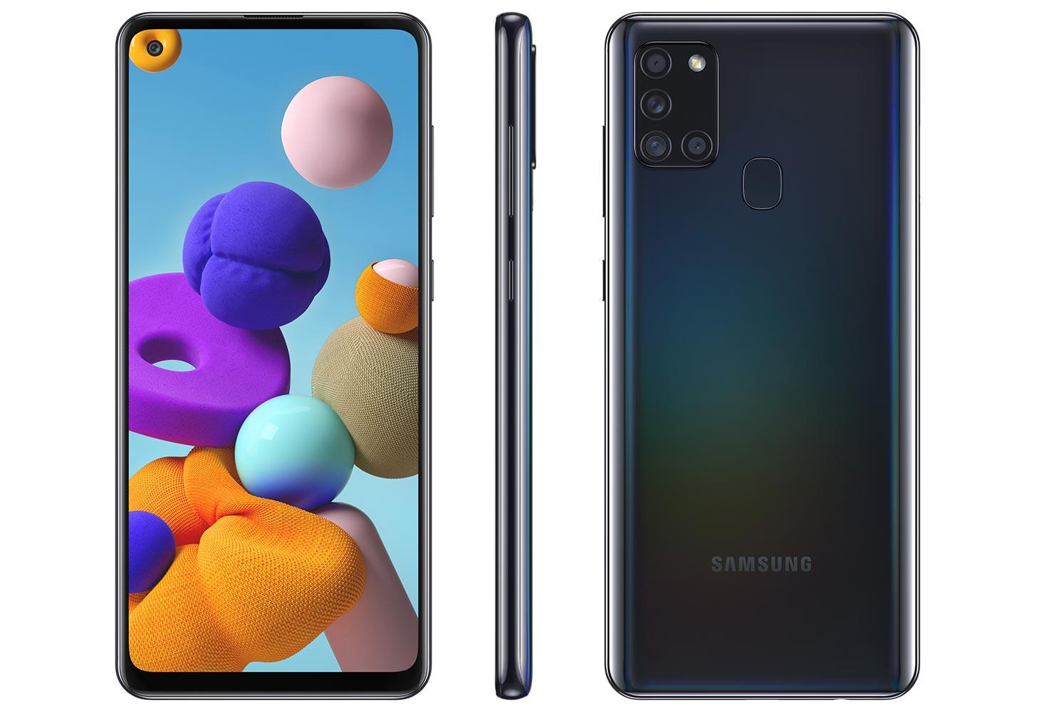 Samsung Galaxy A21-upseeri neljällä takakameralla ja 5000mAh akulla