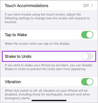 Erişimlilik Iphone'u deaktiv edin 5