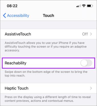 Erişimlilik Iphone'u deaktiv edin 3