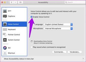 Как использовать голосовое управление Включение контроля доступа Mac