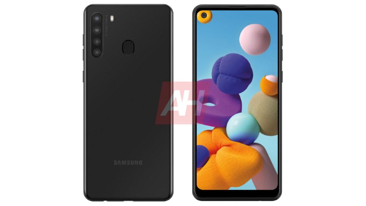 Samsung Galaxy Recursos do A21 de muitas listas Geekbench
