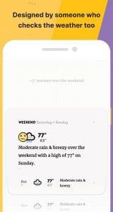 hiển thị thời tiết thuận tiện 1