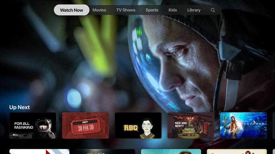 Nội dung Apple Anh bắt đầu phát sóng trên TV.