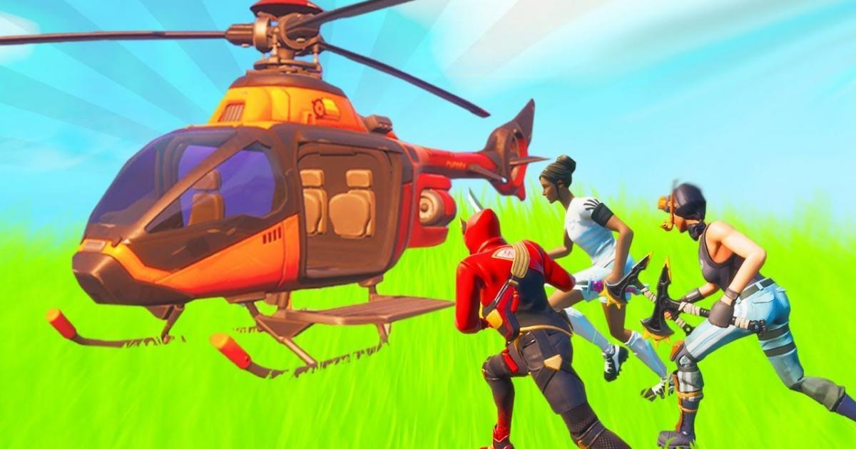 & # 039;FortniteJogadores estão procurando truques inteligentes para fortalecer helicópteros com o piloto automático