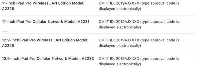 Apple Menyenaraikan Empat iPad Baru Secara Tidak sengaja, Juga Fail untuk EEC Untuk Tablet Baru