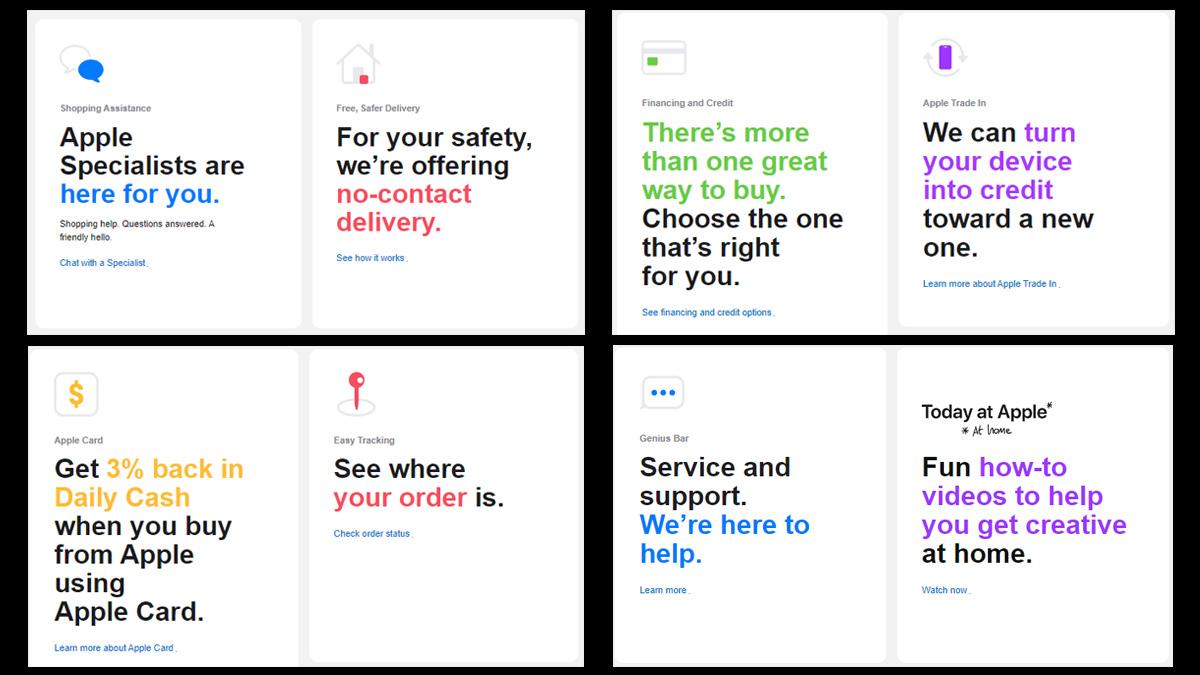 Apple Abriu um shopping online durante o surto de COVID-19