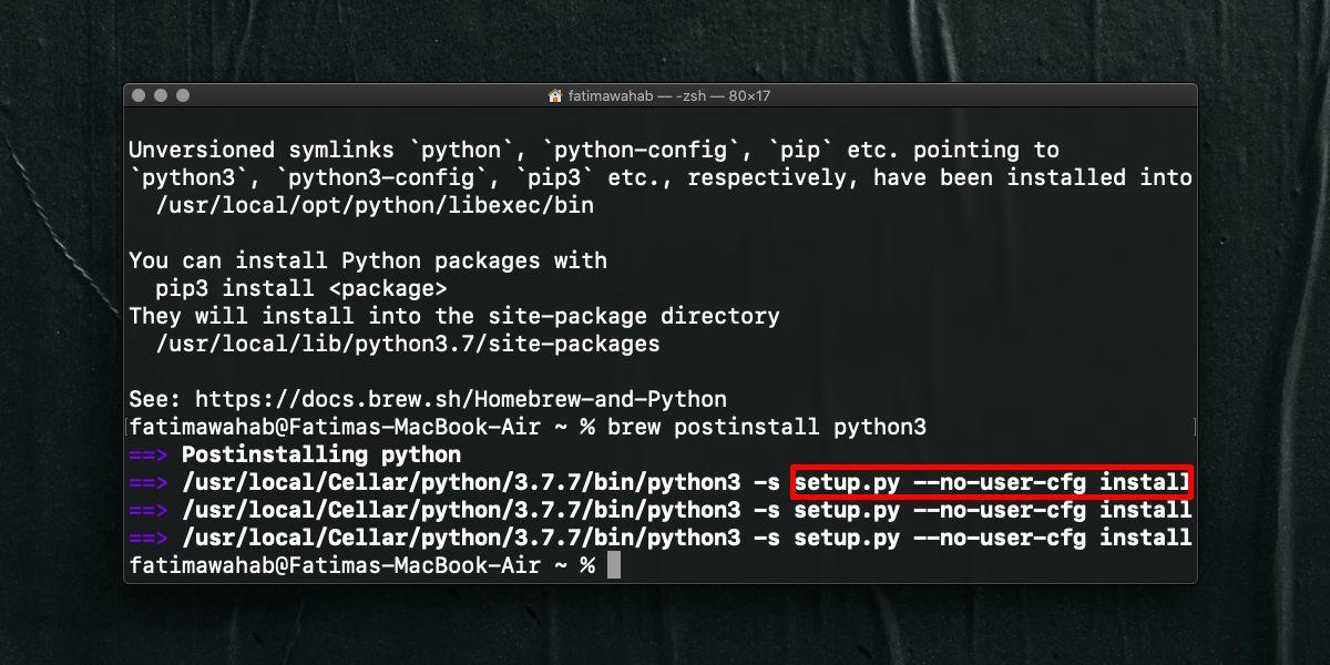Cara memperbaiki ralat 'setup.py –no-user-cfg install' untuk pip di macOS