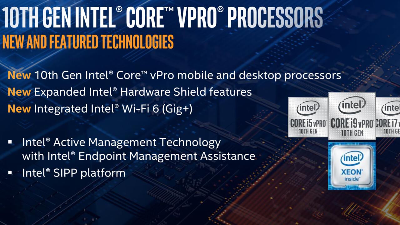 Comet Lake vPro: Intel Core ja uusi Xeon W-1200 yritysratkaisuille