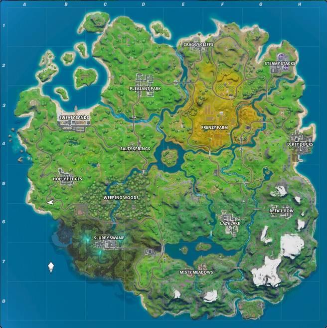 Fortnite  2  Bản đồ - Tất cả các Địa điểm và Điểm nổi bật mới Fortnite Bản đồ 1