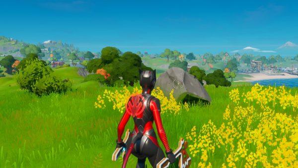 Fortnite: Musim 2 – Cari Pedang Skye di Batu yang terdapat di tempat tinggi