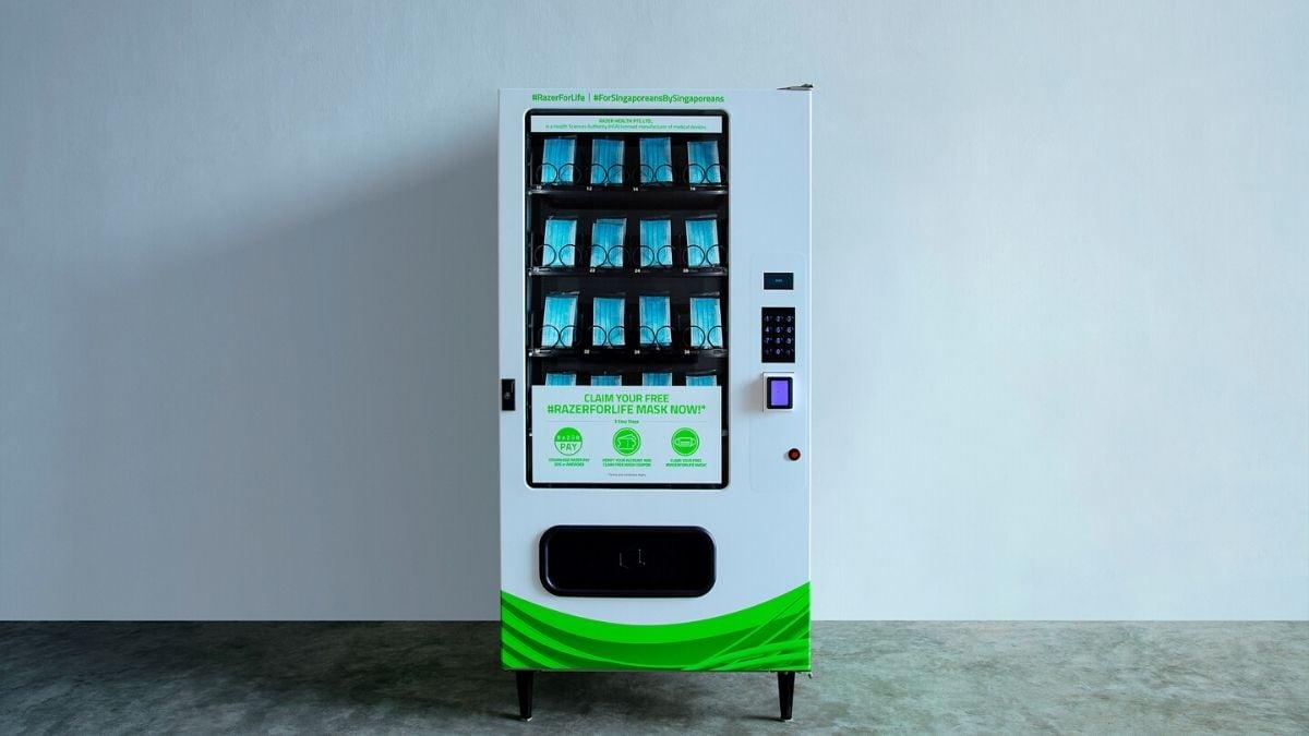 Công ty game Razer ra mắt máy bán hàng mặt nạ tại Singapore 1
