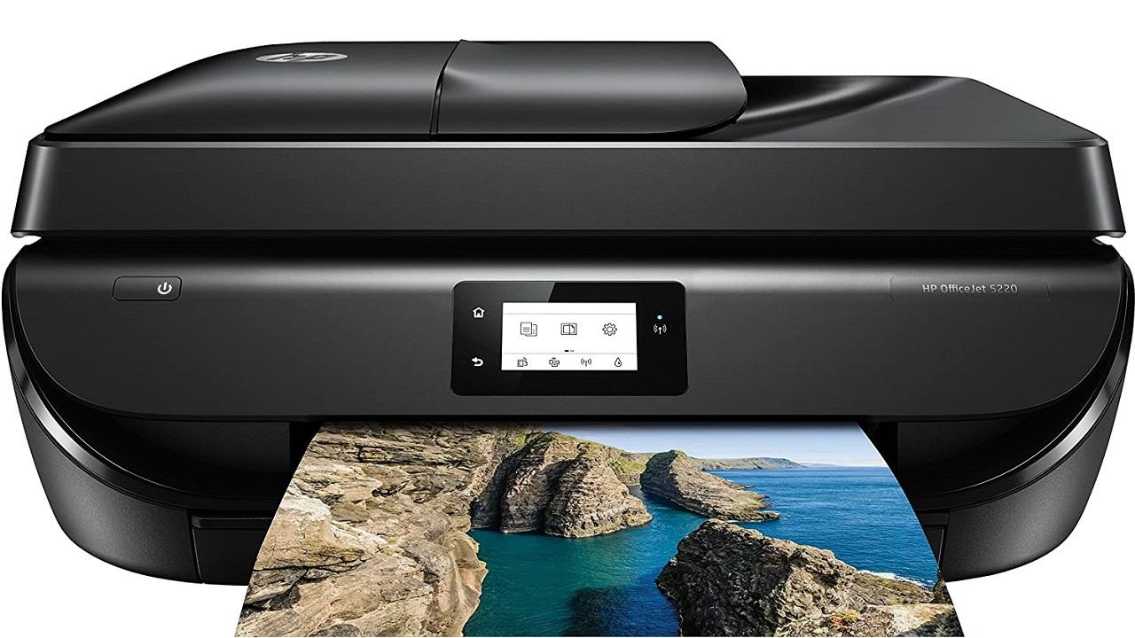 HP OfficeJet 5220, pencetak pelbagai fungsi dengan Wi-Fi dan faks