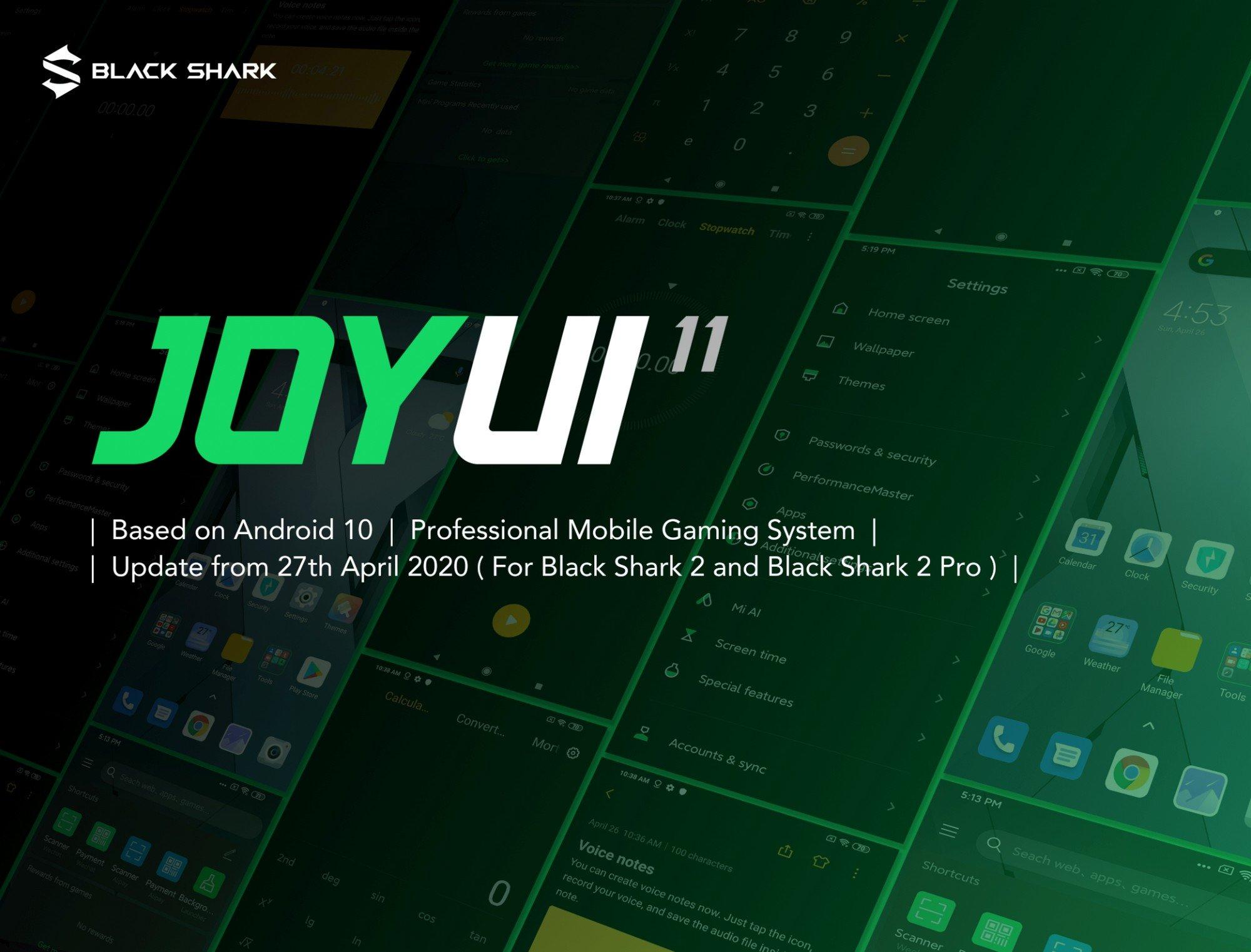 Jerung Hitam Xiaomi 2 sudah menerima kemas kini baru untuk JOYUI 11