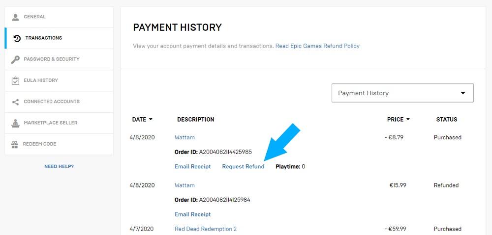Epic Game Store finalmente permite que você faça seus próprios retornos