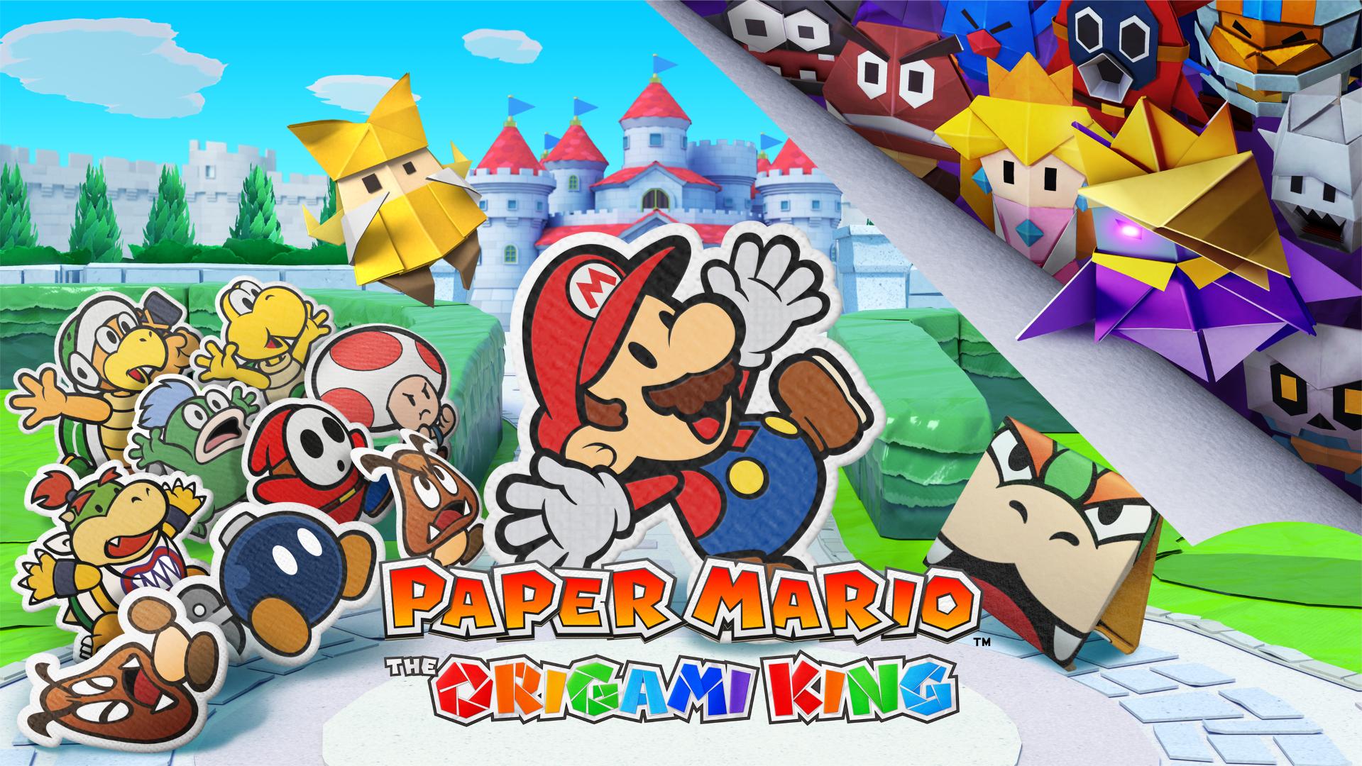 Paper Mario: Origami King - một hình ảnh hộp và ảnh chụp màn hình từ bộ báo chí 2