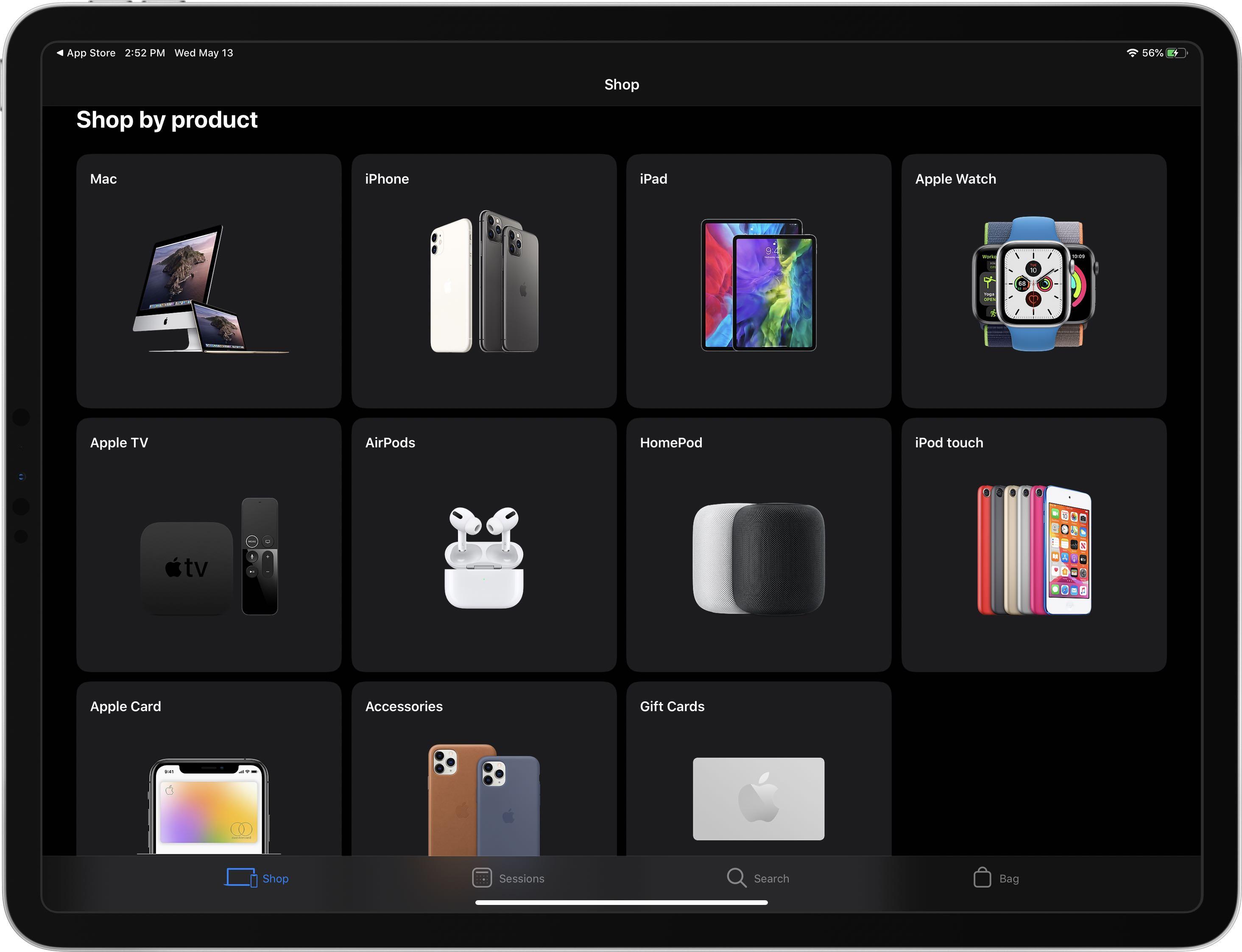 Memur Apple Mağaza uygulaması Dark Mode 1 desteğine sahip